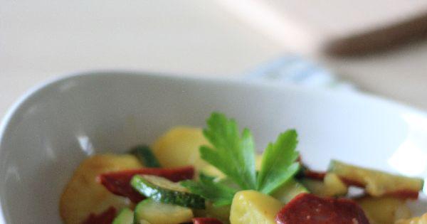 Poel e l g re et ensoleill e au chorizo courgettes et - Cuisine legere et dietetique ...