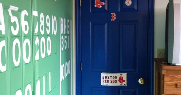 Red Sox Bedroom With The Green Monster Score Board