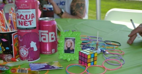 80 S Party Table Decor 40th Pool Party 80 S Style