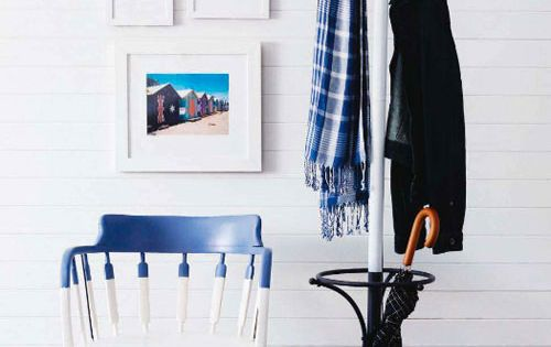 Blue and white dipped furniture.
