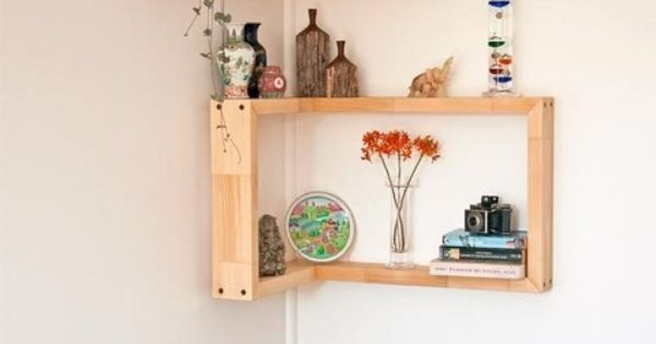 How to make corner shelves better homes and gardens Yahoo better homes and gardens