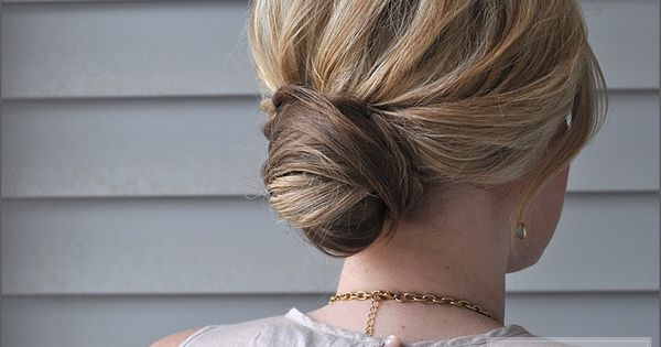 The Small Things Blog: Wrapped Bun hair tutorial