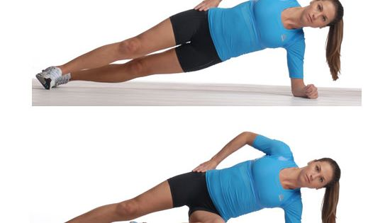Side planks with marching: The Best Core Exercises For Runners