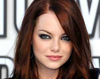 Dark Red Brown Hair Color Great Sytle : Emma Stone Best Dark