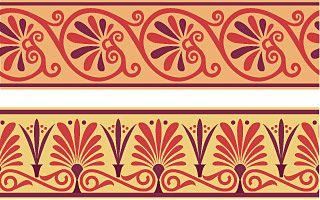 Anthemion Border Designs Created With Artlandia Symmetryworks Anthemion Pattern Incorporates A Classical Motif I Egyptian Design Greek Motifs Egyptian Motifs