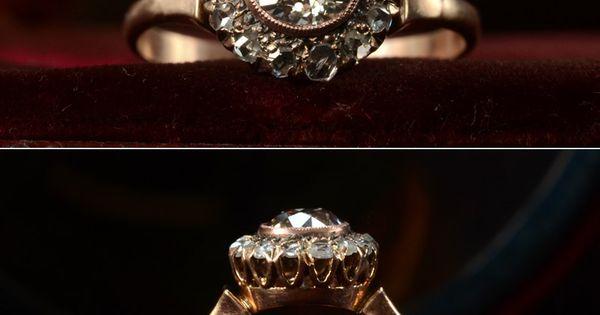 1890s Victorian Rose Cut Diamond Ring