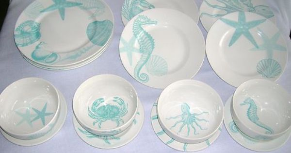 Sea Themed Turquoise And Blue Dishes By 222 Fifth For