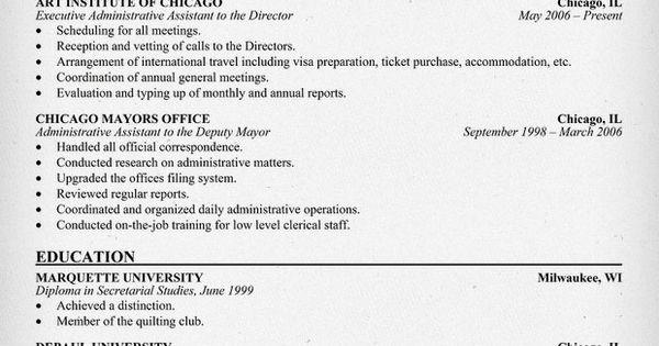 Executive Administrative Assistant Resume (resumecompanion