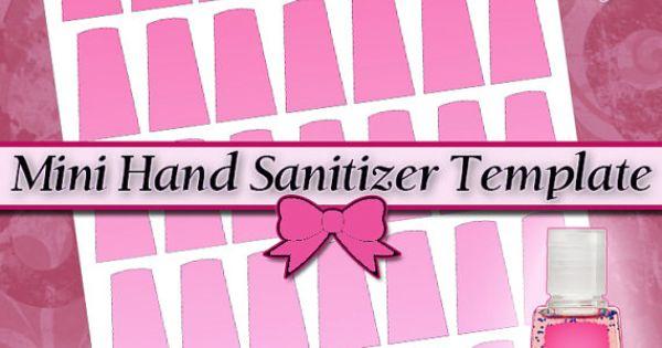 New Mini Hand Sanitizer Label Digital Collage Sheet