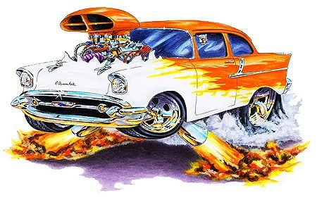 Cool Muscle Cartoon Cars Cartoon Muscle Car Drawings Madd Doggs
