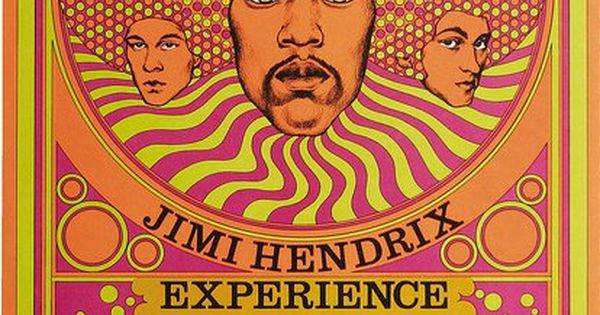 Jimi Hendrix Fillmore East Concert Poster Poster Art by David Byrd