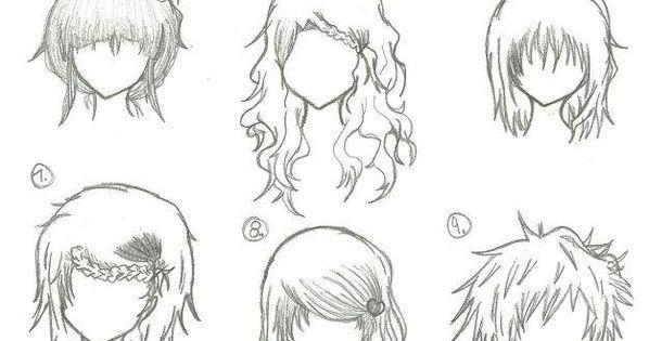 Hairstyles --- Anime, Manga, Drawing, Art, Bun, Curly