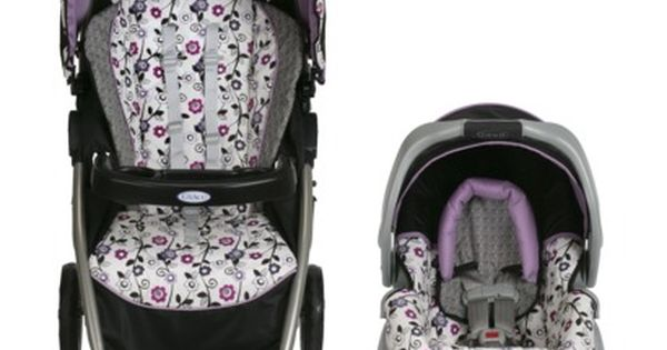 "Graco Dynamo ""Paige"" Grey seat, black stroller, white with ..."