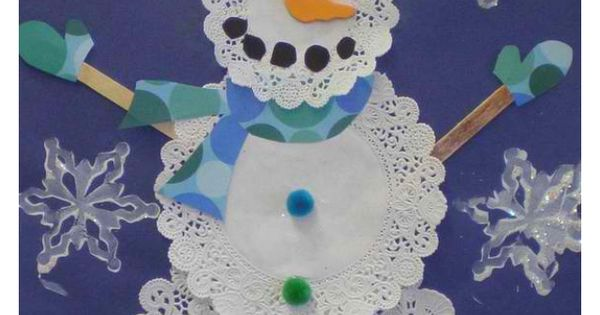 Doilies and Snowman on Pinterest