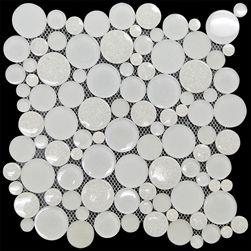 Alaska Round Bubble Mosaic Tile Mok 014 Glacier Crackle Glass Jewel Crackle Glass Mosaic Tiles Mosaic Glass Crackle Glass