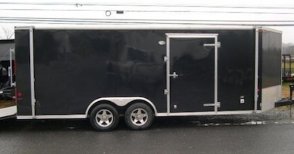 Pre Owned 2011 Carmate 8 X 20 Enclosed V Nose Cargo Trailer Awning Trailer Awning Trailers For Sale Cargo Trailers