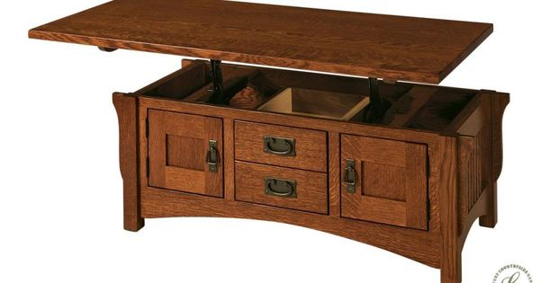 Roosevelt Mission Lift Top Coffee Table Lift Top Coffee Table