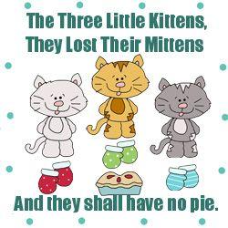 Three Little Kittens Pattern Applique Patterns Little Kittens Kitten Applique
