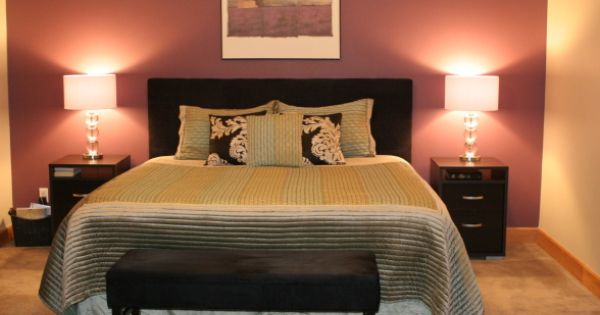 Master Bedroom Deep Purple Accent Wall Always Kiss Me Goodnight Pinterest Purple Accent
