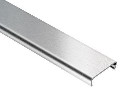 Schluter Designline Brushed Stainless Steel 1 4 In X 8 Ft 2 1 2 In Metal Border Tile Edging Trim Tile Edge Tile Edge Trim Brushed Stainless Steel