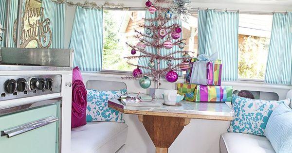 The Fancy Farmgirl Tiffany Kirchner Dixon - Christmas vintage travel trailer glamping