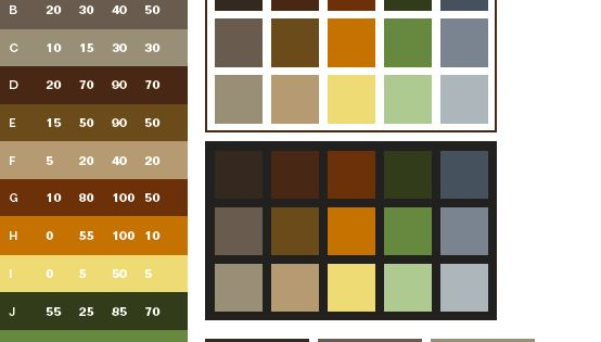 Earthtone colors come from natural things around us brown for Old west color palette