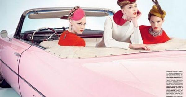 hats! pink car!!