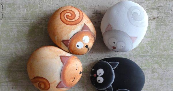 galets peints art pinterest chatons chats adorables et animaux de compagnie. Black Bedroom Furniture Sets. Home Design Ideas