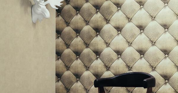 papier peint effet capiton cuir de la collection. Black Bedroom Furniture Sets. Home Design Ideas