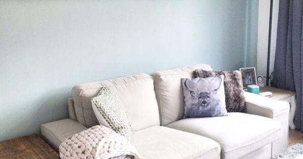 Woonkamer met early dew van flexa love it interior idee n voor het huis - Interieurontwerp thuis kleur ...