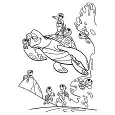 40 Finding Nemo Coloring Pages Free Printables Turtle Coloring