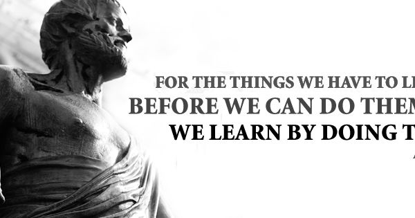 Aristotle Quote About Practice: Free Facebook Cover