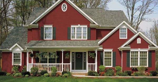 Red Board And Batten Vinyl Siding Kp Building Products