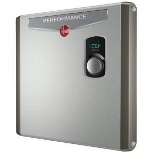 Rheem Performance 24 Kw Self Modulating 4 6 Gpm Electric Tankless Water Heater Retex 24 Tankless Water Heater Water Heater Electric Water Heater
