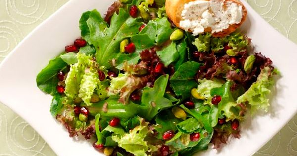 Spring mix, Cheese toast and Pomegranates on Pinterest