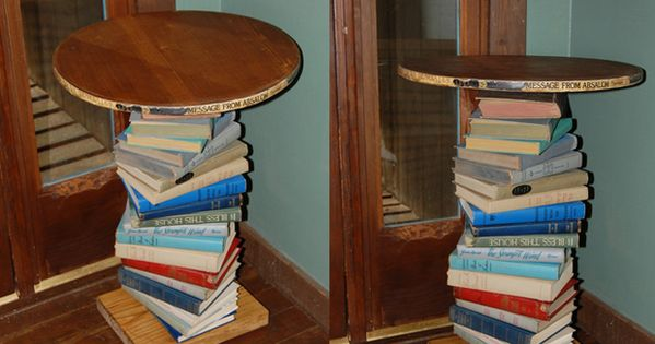 15 Pieces Of Furniture Made Out Of Books Handmade Table