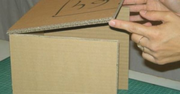 tutoriel bo te en carton assemblage partie 1 cr er ses meubles en carton cartonnage. Black Bedroom Furniture Sets. Home Design Ideas