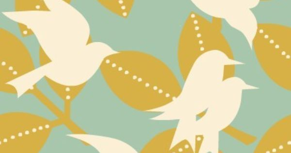 Vintage Bird Wallpaper  For The Home Please Can I Have