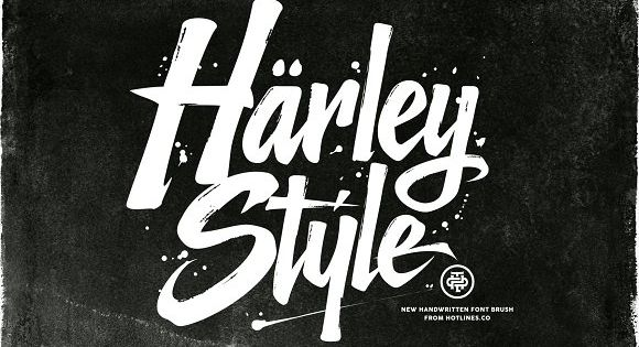 The Harley Style is new handwritten font brush, elegant and vintage feel character set