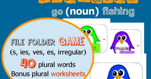 Plural penguin noun fishing plural words irregular for Plural of fish