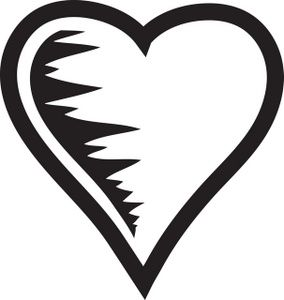 Heart Clipart Image Black And White Heart Graphic Black And White Heart Clip Art Clipart Black And White