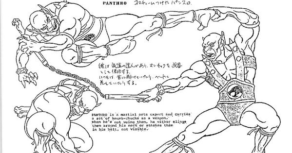 Character Design Page : Thundercats character design page characters