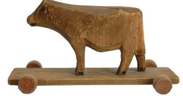 19th Century Swiss Folk Art Cow | Art carved, Folk art