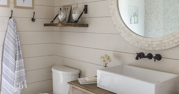 2perfection Decor Basement Coastal Bathroom Reveal: See Best Ideas About Pebble