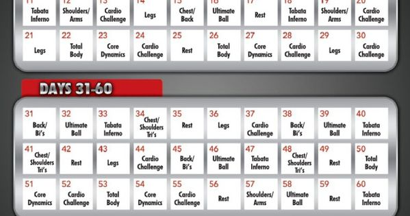 Supreme 90 Day WorkOut Schedule with Time | Programa De Entrenamiento ...
