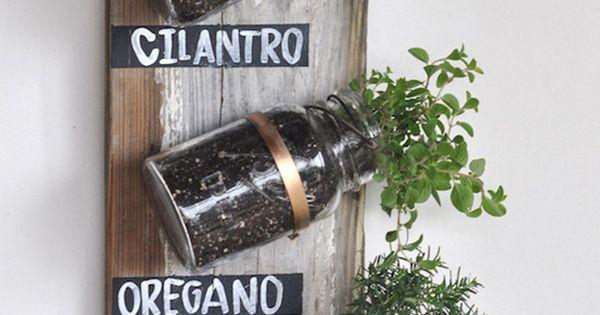 Make a Mason jar herb garden repurpose reuse recycle upcycle Masonjar DIY