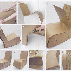 Meubles En Carton En Carton Technique De Fabrication Pearltrees Fauteuil En Carton Design En Carton Meubles En Carton