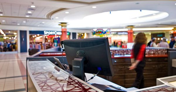 Guest services kiosks for orchard park shopping centre for Office design kelowna
