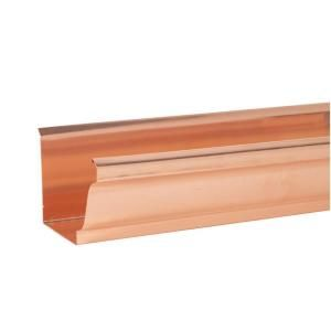 Amerimax Home Products 10 Ft X 6 In K Style Copper Gutter K10cp6 Copper Gutters Gutters Gutter