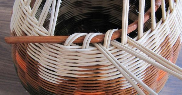 Basket Weaving Edging : Tutorial for beautifully finished rim rolled over large